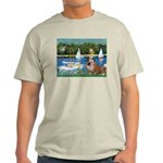Sailboats /English Bulldog Light T-Shirt