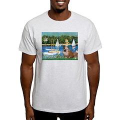 Sailboats /English Bulldog T-Shirt
