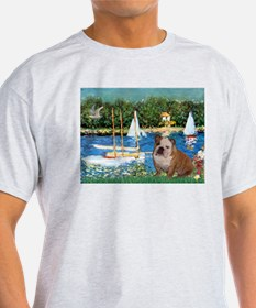 Sailboats /English Bulldog T-Shirt
