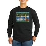 Sailboats /English Bulldog Long Sleeve Dark T-Shir