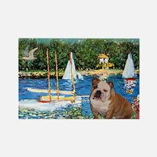 Sailboats /English Bulldog Rectangle Magnet