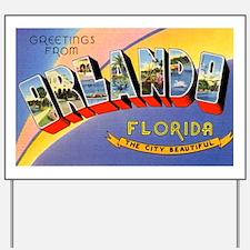 Orlando Florida Greetings Yard Sign