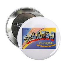 "Orlando Florida Greetings 2.25"" Button (10 pack)"