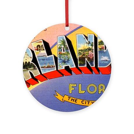 Orlando Florida Greetings Ornament (Round)