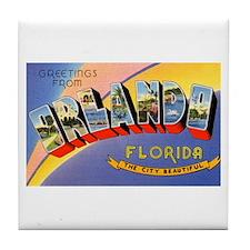 Orlando Florida Greetings Tile Coaster