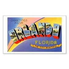 Orlando Florida Greetings Rectangle Decal