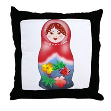 May Day Nesting Doll Throw Pillow