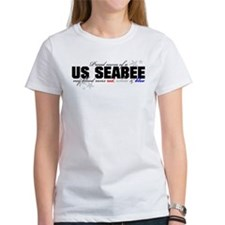 Red, white & blue Seabee Mom Tee