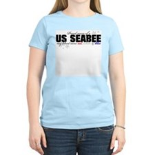 Red, white & blue Seabee Mom T-Shirt