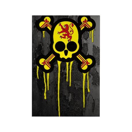 Scottish Punk Skull Rectangle Magnet