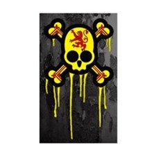 Scottish Punk Skull Decal