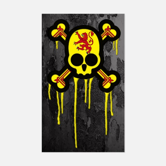 Scottish Punk Skull Sticker (Rectangle)