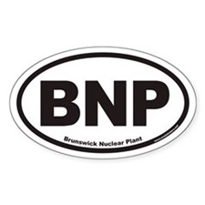 Brunswick Nuclear Plant BNP Euro Oval Decal