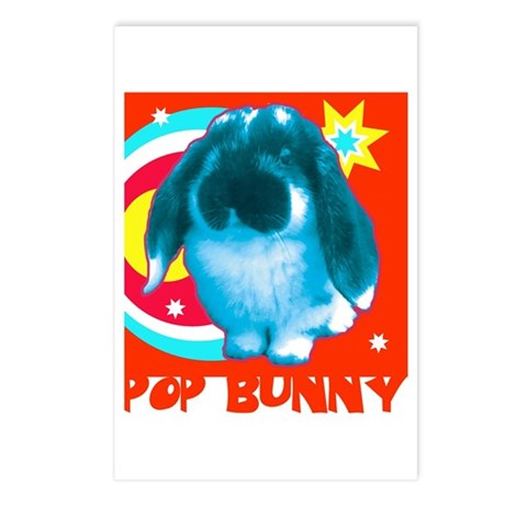 Pop Bunny Postcards (Package of 8)