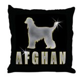 Afghan hound Throw Pillows