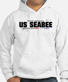 Red, white & blue Seabee Uncl Hoodie