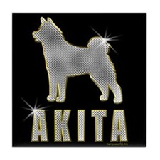 Bling Akita Tile Coaster