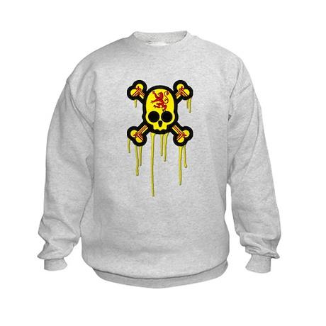 Scottish Punk Skull Kids Sweatshirt