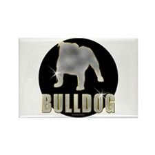 Bling Bulldog Rectangle Magnet (10 pack)