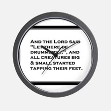 And The Lord Said... Wall Clock