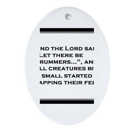 And the Lord said... Oval Ornament