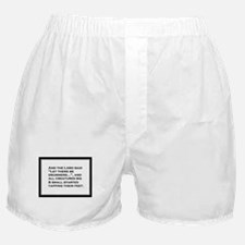 And the Lord said... Boxer Shorts