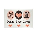 Peace Love Rook Chess Rectangle Magnet (10 pack)