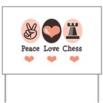 Peace Love Rook Chess Yard Sign