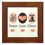 Peace Love Rook Chess Framed Tile
