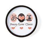 Peace Love Rook Chess Wall Clock