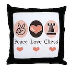 Peace Love Rook Chess Throw Pillow