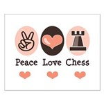 Peace Love Rook Chess Small Poster
