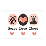 Peace Love Rook Chess Postcards (Package of 8)