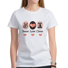 Peace Love Rook Chess Women's T-Shirt