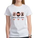 Peace Love Rook Chess Women's T-Shirt