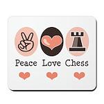 Peace Love Rook Chess Mousepad