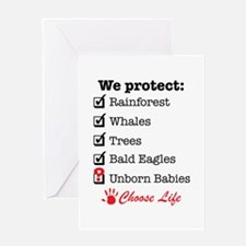 We Protect Greeting Card
