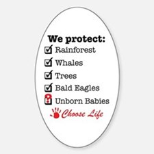 We Protect Sticker (Oval)