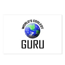 World's Coolest GURU Postcards (Package of 8)