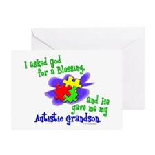 Blessing 2 (Autistic Grandson) Greeting Card