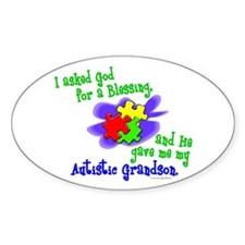 Blessing 2 (Autistic Grandson) Oval Decal