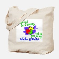 Blessing 2 (Autistic Grandson) Tote Bag