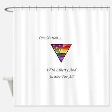 One Nation Rainbow Shower Curtain