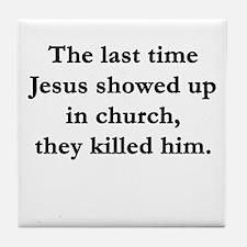 Offensive religious Tile Coaster