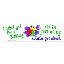 Blessing 2 (Autistic Grandsons) Bumper Bumper Sticker