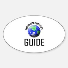 World's Coolest GUIDE Oval Decal