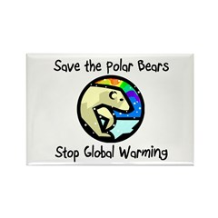 Save the Polar Bears Rectangle Magnet (10 pack)