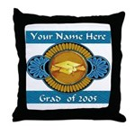 College Grad Personalized Throw Pillow