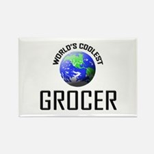 World's Coolest GROCER Rectangle Magnet