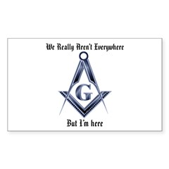 I Have arrived! Masonic Rectangle Decal